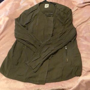 Gap olive green moto jacket